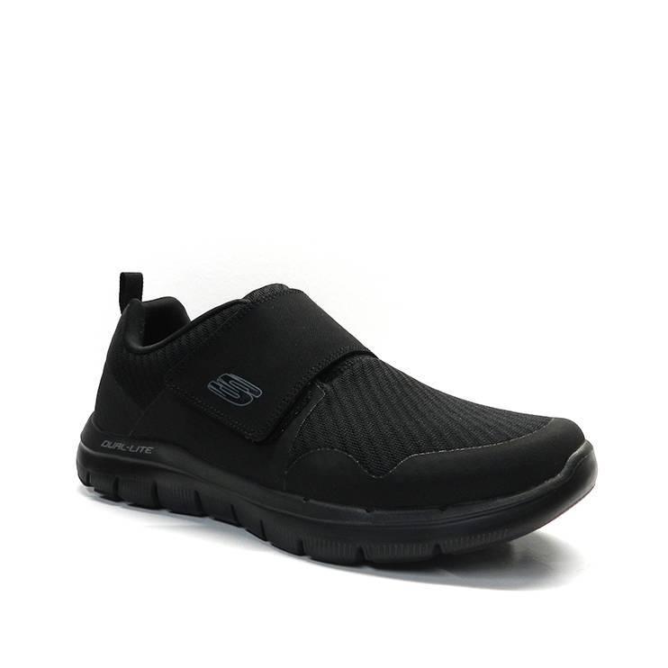 Esportiu en teixit negre i velcro marca skechers