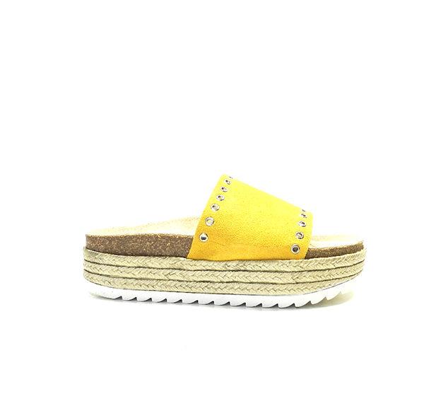 xancla de plataforma de color groc