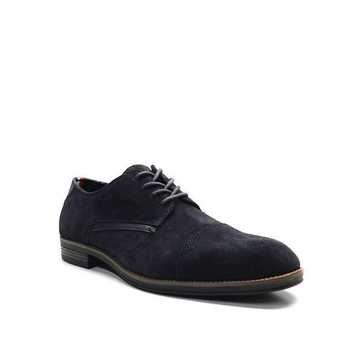 Zapatos con cordones para hombre, con ante en color azul, del modelo Tommy de la marca Tommy Hilfiger.