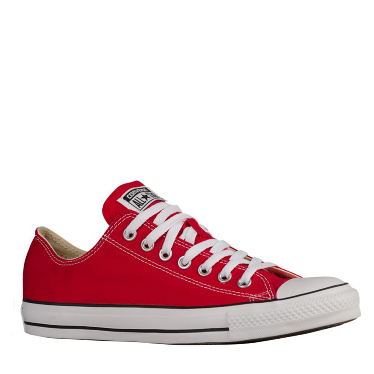 All star deportivo de lona color rojo marca converse.