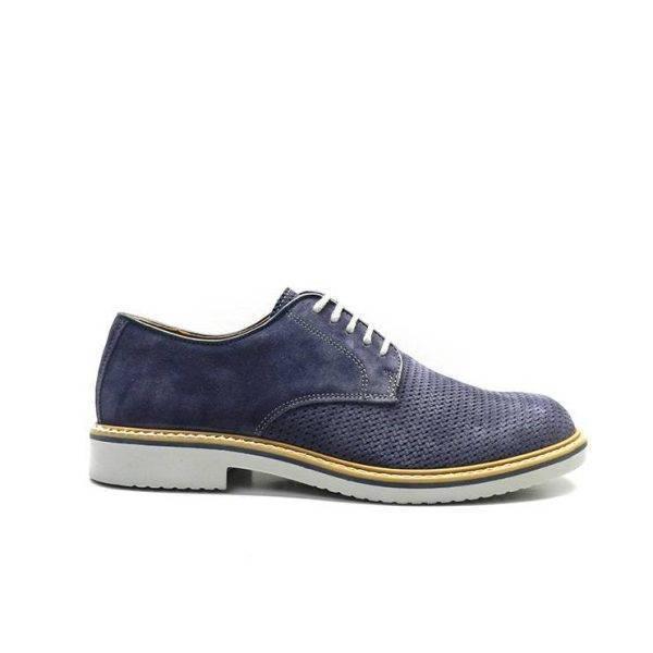 Zapatos de cordones de color azul marino con pala picada