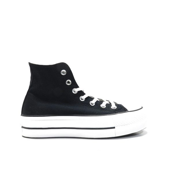 Sneakers, deportiva, bota de lona, con plataforma, marca converse.