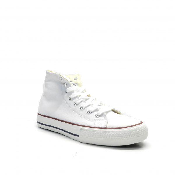 sneakers de bota en lona de color blanco,marca victoria