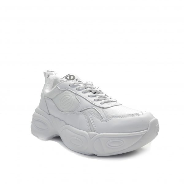 sneakers con volumen de piel blanca ,marca No Name