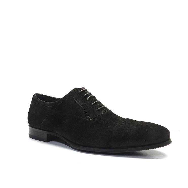 Zapatos de cordones de vestir en ante marron con puntera,marca sergio serrano