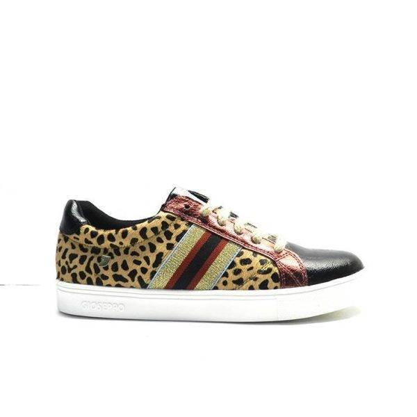 """sneakers de estampado """"animal print"""" con puntera negra ,marca gioseppo"""