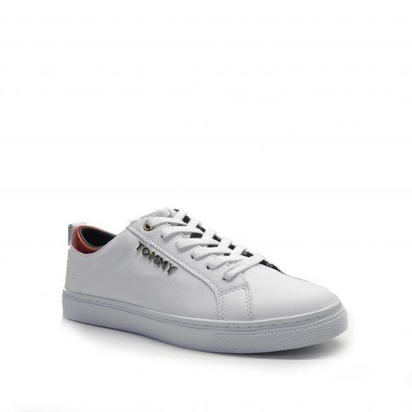 Sneakers de piel blanca ,marca tommy hilfiger