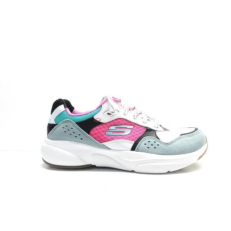 9d174ee5 sneakers de piel en combinación de colores y diferentes texturas , de la  marca skechers.