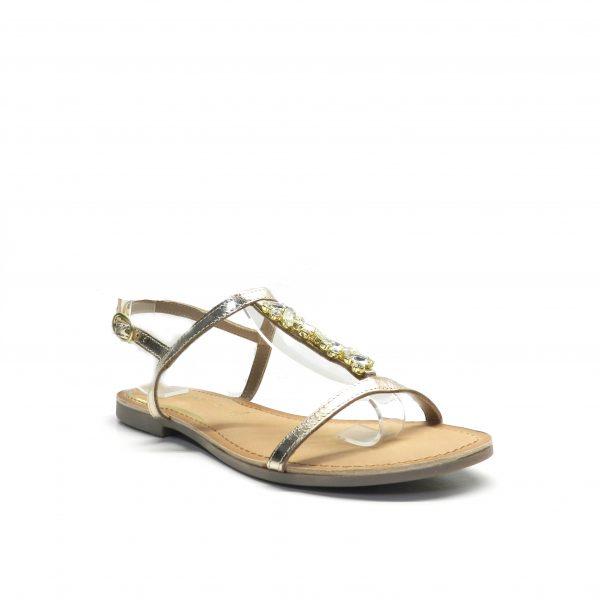 sandalias de napa con tira y piedrecitas en el empeine de la marca gioseppo.