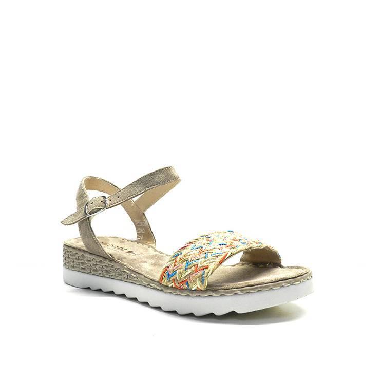 7a23312b sandalias de cuña con pala de colores y plantilla de confort, marca  porronet. sandalias – PORRONET 6521