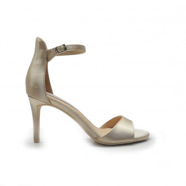 sandalias de raso cerrada por detrás y atada con pulsera tobillo, de la marca francesco milano.