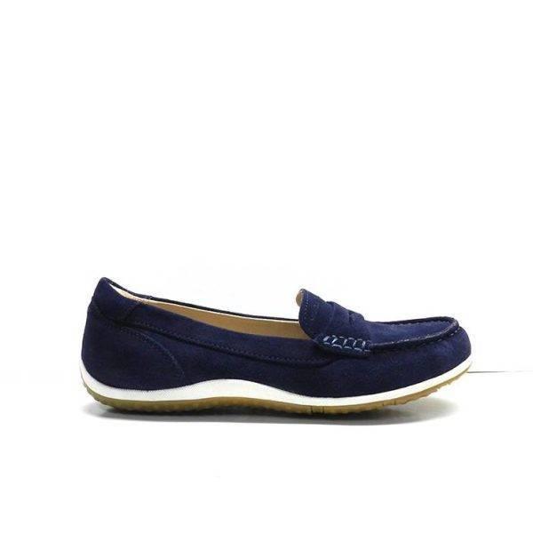 zapatos de mocasin en ante azul marino,marca geox
