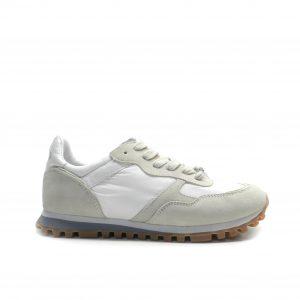 sneakers de cordones combinada en nylon y nobuck y suela fina de la marca liu.jo.