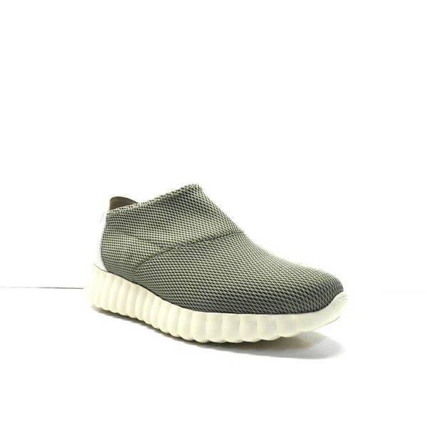 zapatos abotinados tipo calcetin en color kaki y suela deportiva,marca weekend