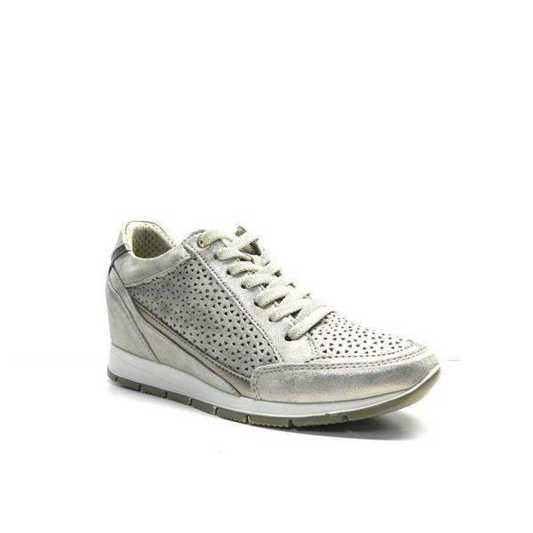 Sneakers de ante color vison con cuña interna, marca imac