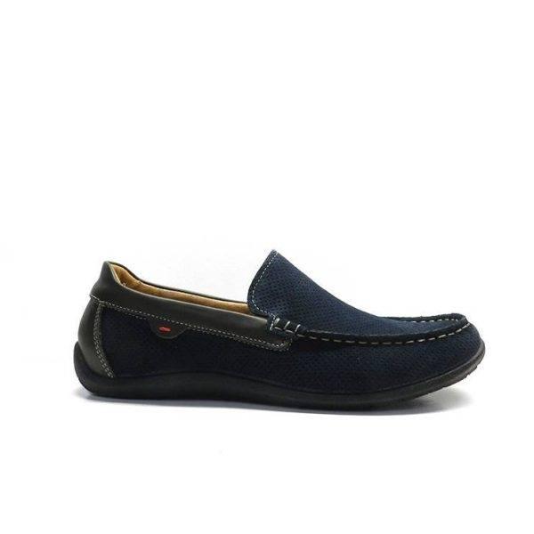 Zapatos tipo mocasin en color azul marino, marca imac