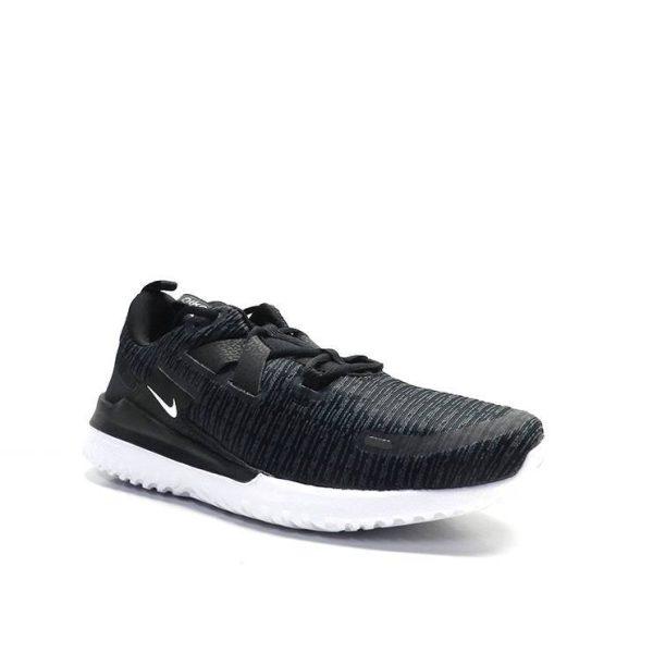 sneakers marca nike en varias texturas y suela blanca color negro.