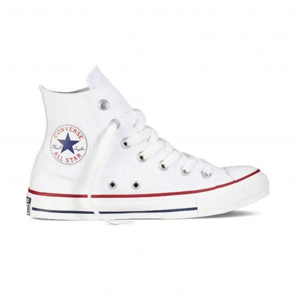 All star deportivo de lona color blanco, marca converse.