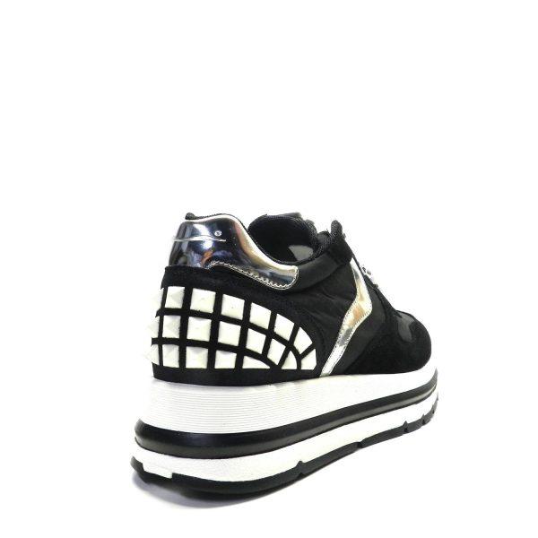 Sneakers VOILE BLANCHE MARAN STUDS NERO-BIANCO