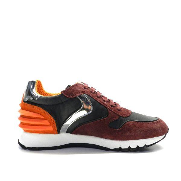 Sneakers VOILE BLANCHE JULIA POWER BORDEAUX/NERO