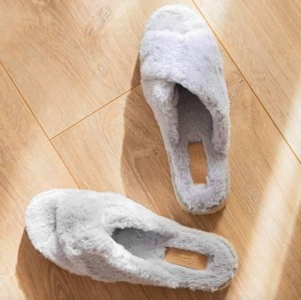 Zapatillas casa - Gaimo Salma Pelo Gris