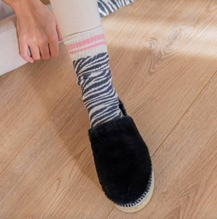 Zapatillas casa - Gaimo Carla Pelo Negro
