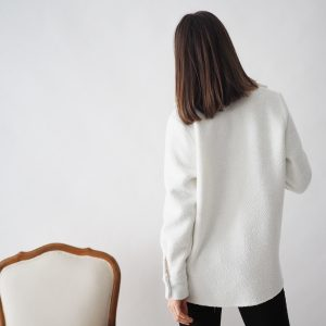 Chaqueta camisera blanca