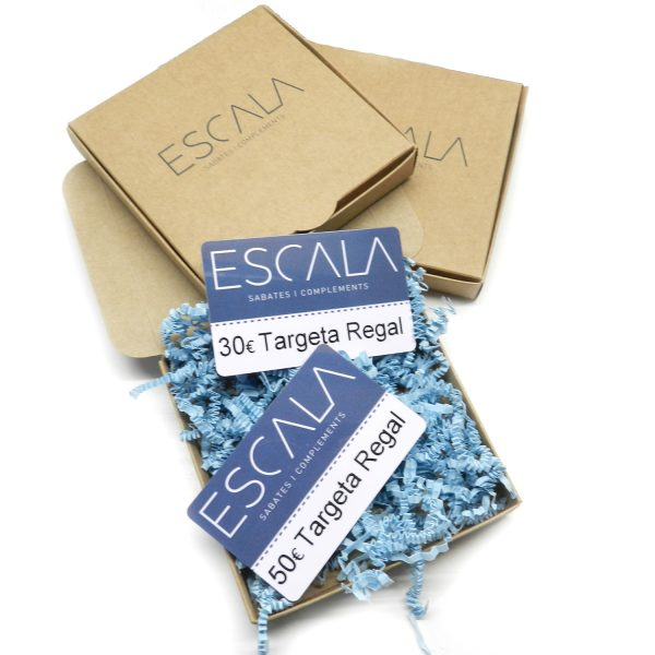 Tarjeta regalo Escala 50€. Valida para todas nuestras tiendas físicas y online. No caduca. Viene dentro de una cajita en un envoltorio bonito de regalo.
